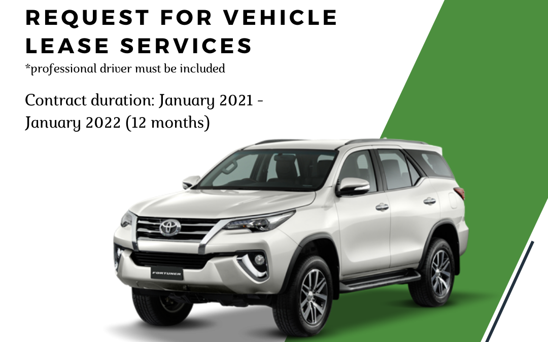 REQUEST FOR A SERVICE PROVIDER TO PROVIDE VEHICLE RENTAL SERVICES (TERMS OF REFERENCE)